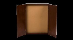 Olhausen Dartboard Cabinet - Open