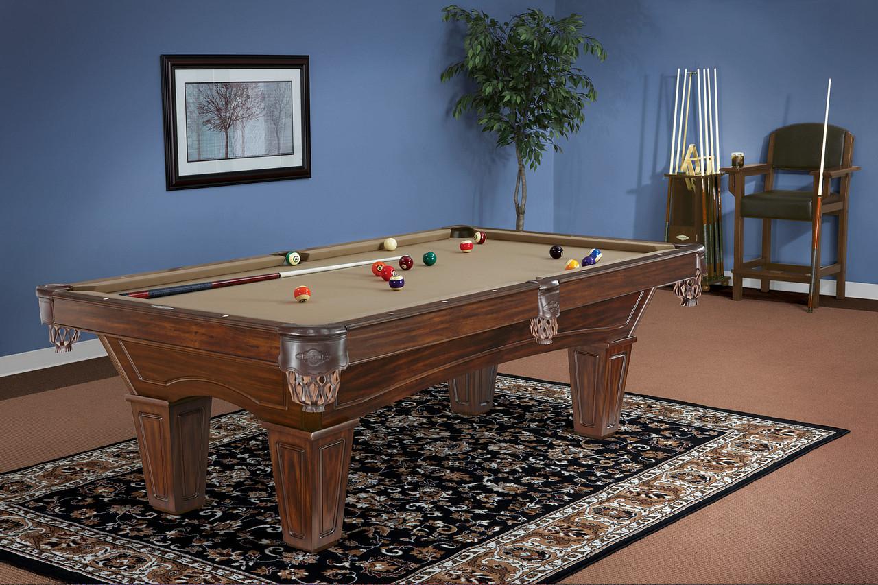 Brunswick Billiards Allenton Pool Table Tuscana Tapered Leg in Room