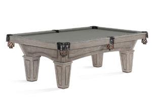 Brunswick Billiards Allenton Pool Table Driftwood Tapered Leg