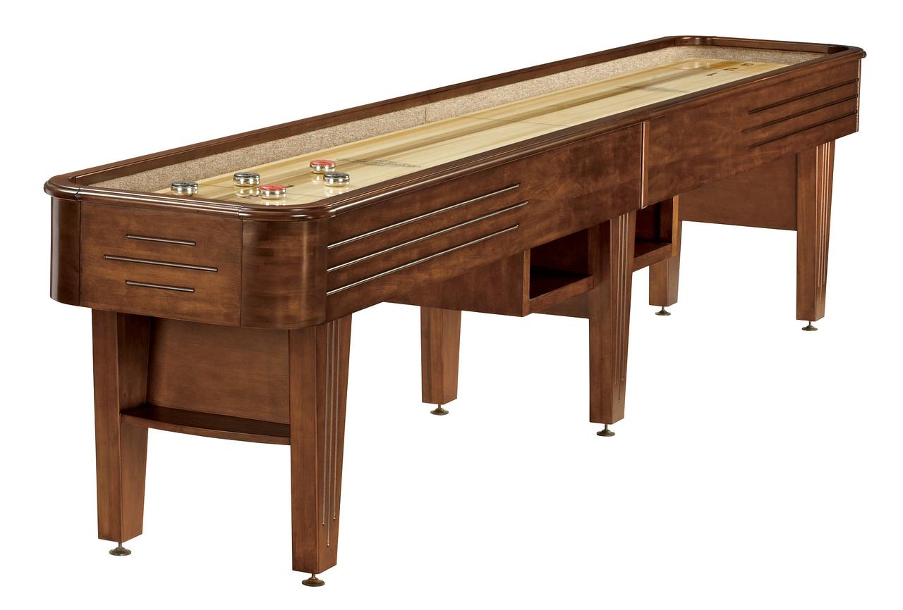 Brunswick Billiards Andover II Shuffleboard in Chestnut