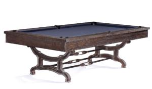 Brunswick Billiards Birmingham Pool Table in Charcoal three-quarter view