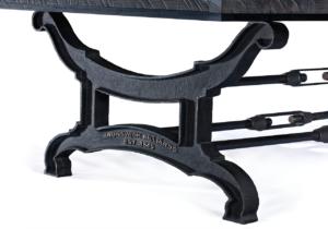 Brunswick Billiards Birmingham Pool Table Charcoal Leg Detail