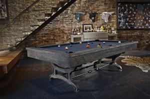 Brunswick Billiards Birmingham Pool Table in Charcoal in Room
