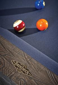 Brunswick Billiards Birmingham Pool Table in Charcoal Rail Detail