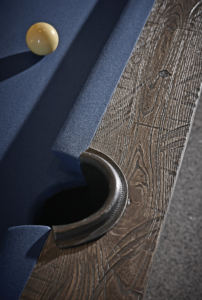 Brunswick Billiards Birmingham Pool Table in Charcoal Pocket Detail