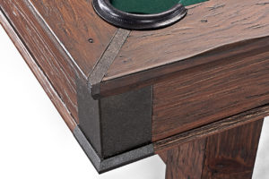 Brunswick Billiards Canton Pool Table-Black-Forest-Corner Detail
