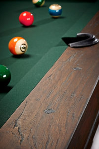 Brunswick Canton-Billiards-Table-Black-Forest-Detail-with Pool Balls