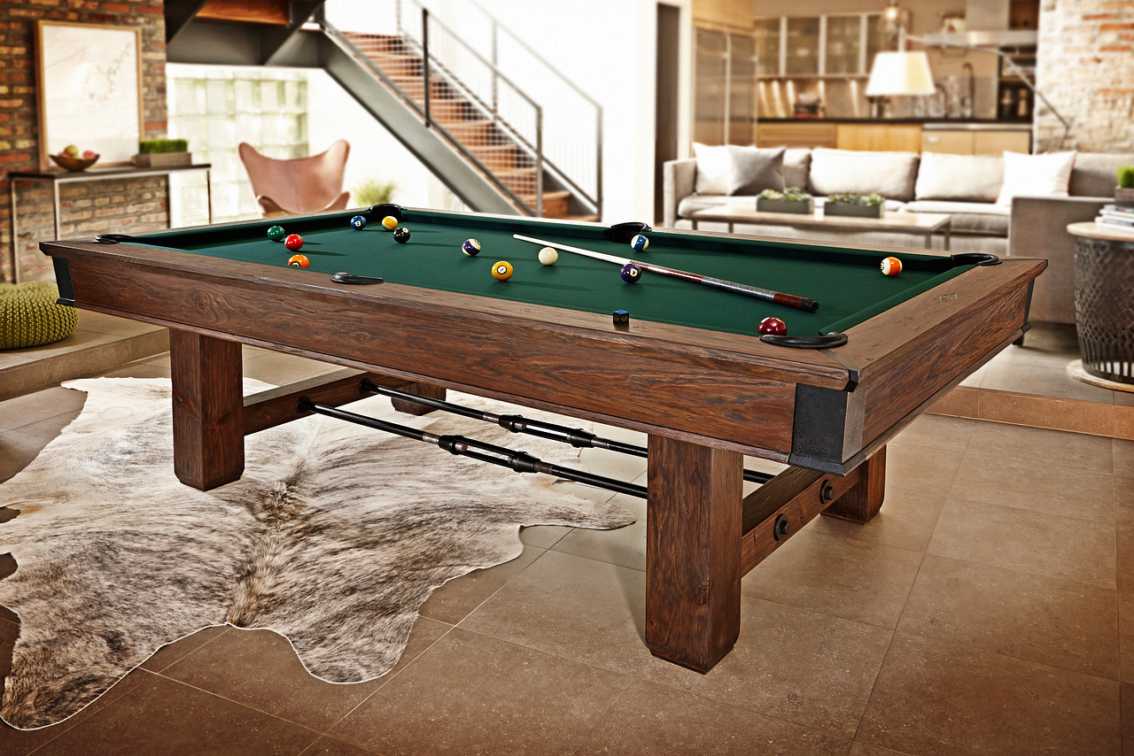 Brunswick Canton Pool Table in Black Forest in Cozy Game Room