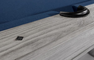 Brunswick Canton Pool Table in Rustic Gray Detail