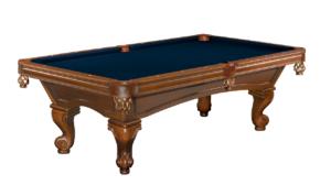 Brunswick Billiards Glenwood Pool Table - Chestnut Rams Head Leg