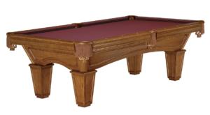 Brunswick Billiards Glenwood Pool Table - Chestnut Tapered Leg