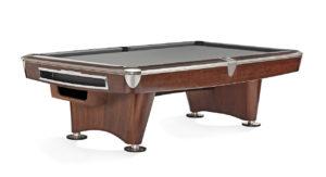 Brunswick Billiards Gold Crown II Pool Table in Mahogany Gray Cloth