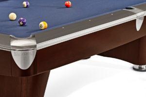 Brunswick Billiards Gold Crown II Pool Table in Walnut Corner View