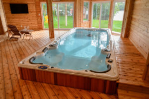 HydroPool AquaSport-swim spa in Home
