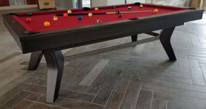 Olhausen Laguna Pool table in Matte Charcoal