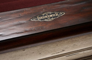 Brunswick Billiards Mackenzie Pool Table - Merlot Cloth Detail