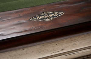 Brunswick Billiards Mackenzie Pool Table - Olive Cloth Detail