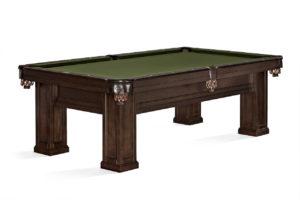 Brunswick Billiards Oakland II Pool Table in Espresso 3/4 Side View