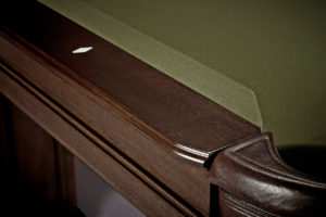 Brunswick Billiards Oakland II Pool Table in Espresso Rail Detail