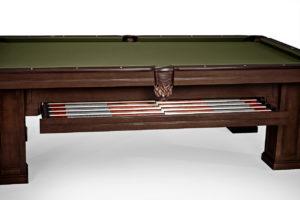 Brunswick Billiards Oakland II Pool Table in Espresso Drawer Open Side View