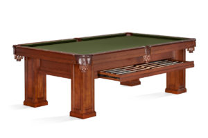 Brunswick Billiards Oakland II Pool Table with Drawer in Chestnut