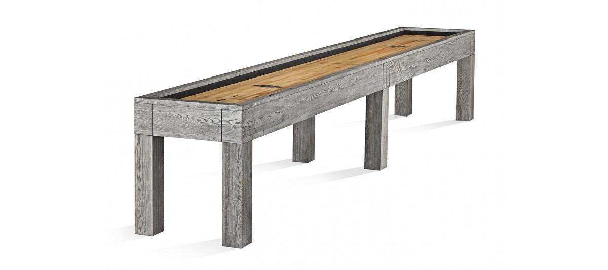Brunswick Billiards Shuffleboard in Rustic Gray