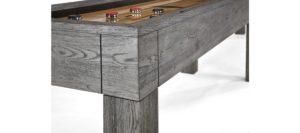 Brunswick Billiards Shuffleboard in Rustic Gray Corner View