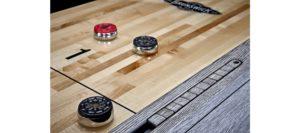 Brunswick Billiards Shuffleboard in Rustic Gray Detail
