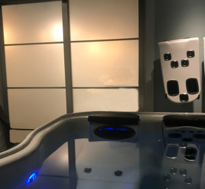 Hot Tub Test Soak Room at Skillful Home Recreation