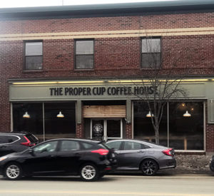 The Proper Cup coffee shop - Woodfords Tower Portland Maine - things to do in our neighborhood Woodfords corner