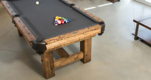 Olhausen Timber Ridge Pool Table in Room from above