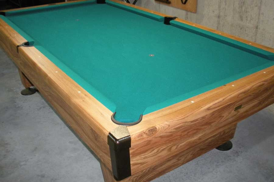 tables bumperpool s baron pool bumper table billiards used pine